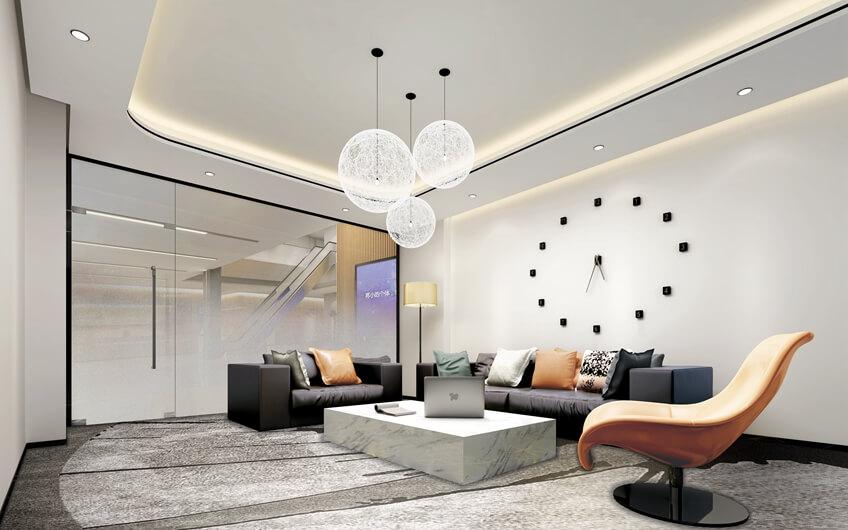 办公室装修走廊和地板构架装修设计